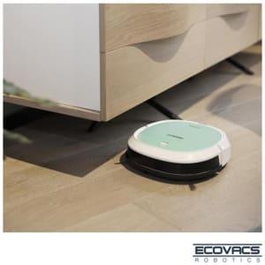 Robô Aspirador de Pó Ecovacs Robotics Deebot Mini 3 em 1 com Capacidade de 0,3 Litros Verde e Branco - DK560 - E3DEEBOATMVDB