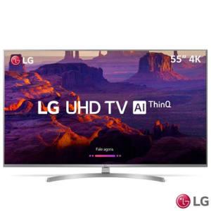 "Smart TV 4K LG LED 55"" com HDR Ativo, Painel IPS, WebOS 4.0, Controle Smart Magic e Wi-Fi - 55UK7500PSA"