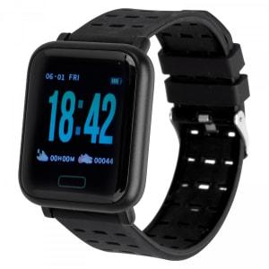 [Preto ou vermelho] Monitor Cardíaco Relógio Inteligente Oxer Oxwatch WearFit