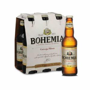 Cerveja Bohemia Pilsen 355ml Caixa com 6 unidades