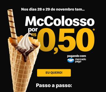 Mc Colosso por apenas R$ 0,50 pagando pelo Mercado Pago - McDonalds