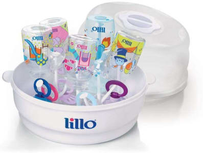 Esterilizador de Mamadeira para Microondas - Lillo - Branco