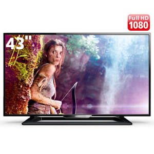 "TV LED 43"" Full HD Philips 43PFG5000/78 com Perfect Motion Rate 120Hz, Digital Crystal Clear, Entradas HDMI e Entrada USB"
