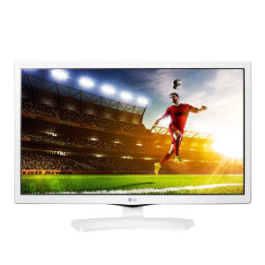 "TV Monitor LED 24"" LG 24MT49DF-WS HD 1 HDMI 1 USB Branco com Conversor Digital Integrado"