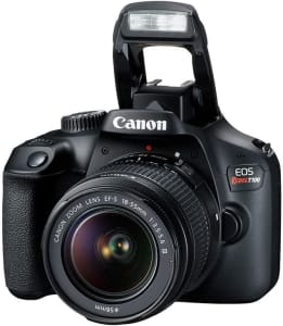 Kit Câmera Digital Canon EOS Rebel T100 Premium Kit com Lente EF-S 18-55mm + EF-S 55-250mm Preto
