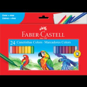 Caneta Hidrográfica Colors Faber Castell 24 Cores