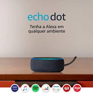 [Prime] Echo Dot (3ª Geração): Smart Speaker com Alexa - Cor Preta