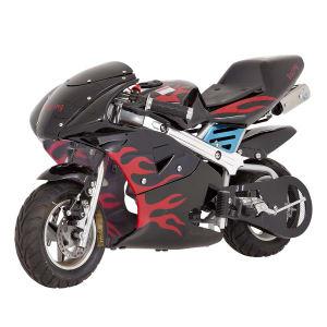 Mini Moto à Gasolina 49cc Motor 2 Tempos Velocidade Máxima 30Km/h Bull Motors BKR6S Preta