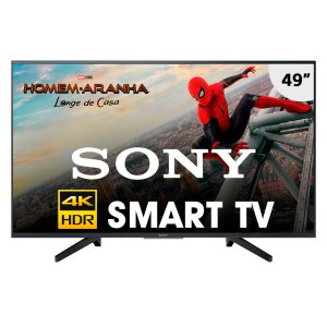 Smart TV Sony 49 Polegadas LED Ultra HD 4K KD-49X705F Preta