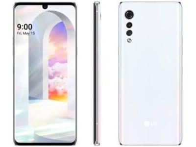 "Smartphone LG Velvet 128GB Aurora White Octa-Core - 6GB RAM Tela 6,8"" Câm. Tripla + Selfie 16MP - Magazine Ofertaesperta"