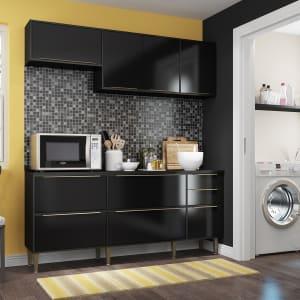 Cozinha Compacta Trevalla Móveis New Paris 8 Portas 3 Gavetas