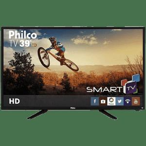 Oferta ➤ Smart TV LED 39″ Philco PH39N86DSGW HD com Conversor Digital 3 HDMI 1 USB Wi-Fi Closed Caption e Sleep timer   . Veja essa promoção