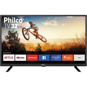"""Smart TV LED 32"""" Philco PTV32G52S HD e Áudio Dolby Conversor Digital Integrado 2 HDMI 1 USB Wi-Fi com Netflix"""