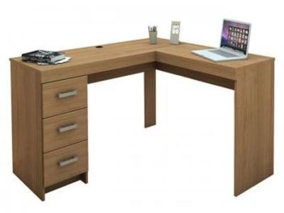 Mesa para Computador/Escrivaninha Fênix - 3 Gavetas - Politorno