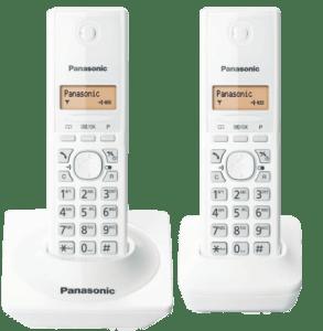 Telefone Sem Fio Panasonic Tg1712  Branco Identificador, Base + 1 Ramal (Cód: 9347880)