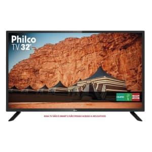 """TV LED 32"""" Philco Ptv32f10d HD com Receptor de Sinal de Tv Digital Integrado 2 HDMI 1 USB"""