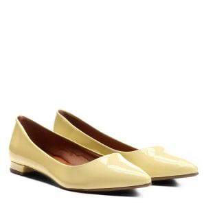 Sapatilha Somoda Verniz Feminina - Amarelo (N° 34 ao 39)