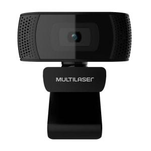 Webcam Plug e Play 1080P MIC USB 4K Photos Preto - WC050