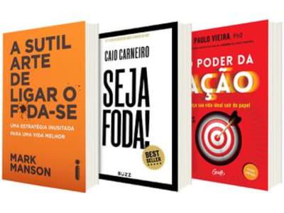 Kit Livros A Sutil Arte de Ligar o F*da-se - Seja Foda! + O Poder da Ação - Magazine Ofertaesperta