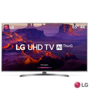"""Smart TV 4K LG LED 65"""" com HDR Ativo, Painel IPS, WebOS 4.0, Controle Smart Magic e Wi-Fi - 65UK7500PSA - LG65UK7500PSA_PRD"""