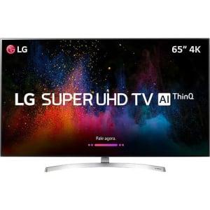 "Smart TV LED 65"" LG Ultra HD 4k 65SK8500PSA com Conversor Digital 4 HDMI 3 USB Wi-Fi Webos 4.0 Dts Virtual X Sound Sync Inteligencia Artificial - Prat"