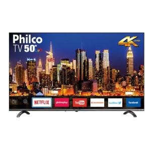 "Smart TV LED 50"" Philco PTV50Q20SNBL Ultra HD 4k Áudio Dolby 4 HDMI 2 USB Wi-Fi com Netflix 60Hz"