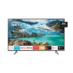 Smart TV LED 50 Polegadas Samsung UN50RU7100GXZD Ultra HD 4K com Conversor Digital 3 HDMI 2 USB Wi-Fi Bluetooth