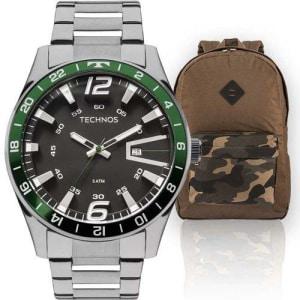 Kit Relógio Masculino Technos com Mochila Military