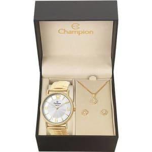 Relógio Feminino Champion Analógico Fashion CN27830W + Colar e Brinco