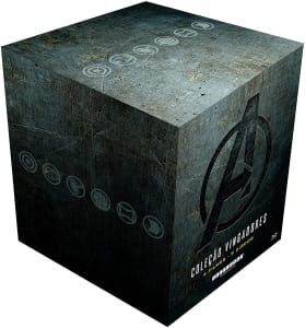 Coleção Blu-ray Steelbook Vingadores 4 Filmes (9 Discos)