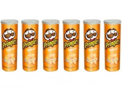 Kit Batata Pringles Queijo 6 Unidades - 120g Cada - Magazine Ofertaesperta