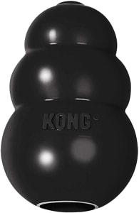 Brinquedo Mordedor com Dispenser Para Petisco Preto Kong Extreme Grande Kong para Cães