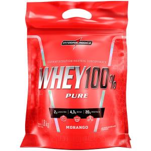 Whey 100% Pure Integralmédica - Morango - 1,8Kg