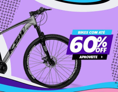 Maratona de Bicicletas com até 60% de Desconto!