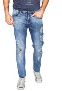 Calça Jeans Local Skinny Acid Azul