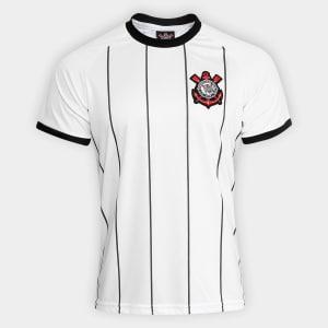 Camisa Corinthians Fenomenal - Edição Limitada Torcedor C/Patch Masculina - Branco e Preto