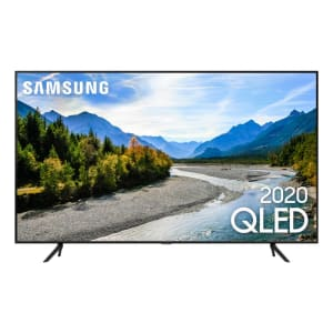 "Samsung Smart TV QLED Q60T 4K 55"" Borda Ultrafina Visual Livre de Cabos"