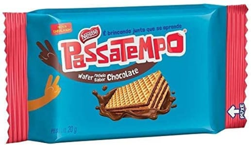 (6 Unidades) Biscoito Mini Wafer Chocolate Passatempo 20g