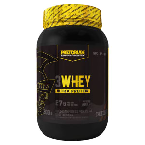 Whey Protein 3W Ultra Protein 900g Exclusivo - Pretorian