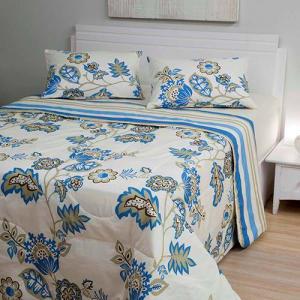 Edredom Casal Veronique com 2 Porta-Travesseiros - Casa & Conforto