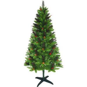 Árvore de Natal Decorada 1,8m 488 Galhos - Enfeitada com Pinhas e Frutinhas - Orb Christmas