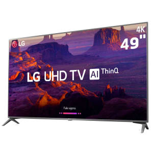 Oferta ➤ Smart TV LED 49 Ultra HD 4K LG 49UK6310PSE com IPS, Inteligência Artificial ThinQ AI, WI-FI, Processador Quad Core, HDR 10 Pro, HDMI e USB   . Veja essa promoção