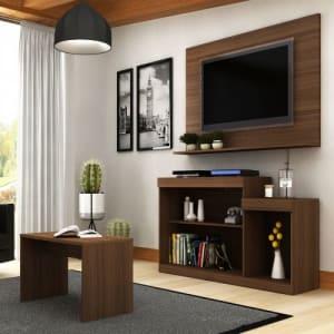 Rack Com Painel Para TV 47 Pol Trevalla Atenas E Mesa De Centro - Duna