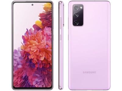 "Smartphone Samsung Galaxy S20 FE 128GB Cloud - Lavander 6GB RAM 6,5"" Câm. Tripla + Selfie 32MP - Magazine Ofertaesperta"