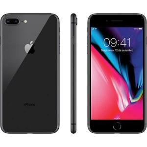 "iPhone 8 Plus Cinza Espacial 64GB Tela 5.5"" IOS 11 4G Wi-Fi Câmera 12MP - Apple"