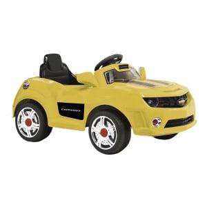 Carro Elétrico Infantil Bandeirante Camaro Amarelo e Preto 6V