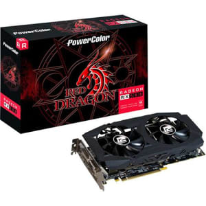 Placa de Video VGA AMD Powercolor Radeon Rx 580 8GB Red Dragon Axrx 580 8gbd5-3dhdv2/oc