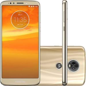 "Smartphone Motorola Moto E5 Plus Dual Chip Android Oreo - 8.0 Tela 5.9"" Octa-Core 1.4 GHz 16GB 4G Câmera 12MP - Ouro"