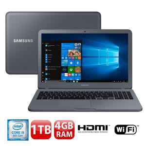 "Notebook Samsung Expert X20 Intel Core i5 4GB - 1TB 15,6"" Full HD Windows 10 - Magazine Tud0aqui"
