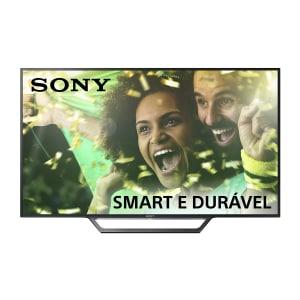 """Smart TV LED 48"""" Sony KDL48W655D Full HD 2 USB 2 HDMI Preta com Conversor Digital Integrado"""